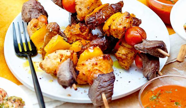 2 brochettes mixed-grill