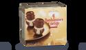 4 bonhommes de neige, crème glacée chocolat