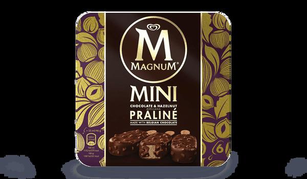 6 mini Magnum praliné