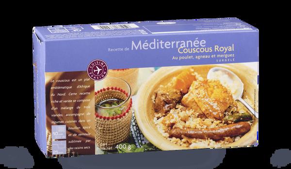 Couscous Royal au poulet, agneau et merguez
