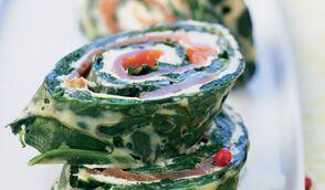Roulé d'épinards et saumon