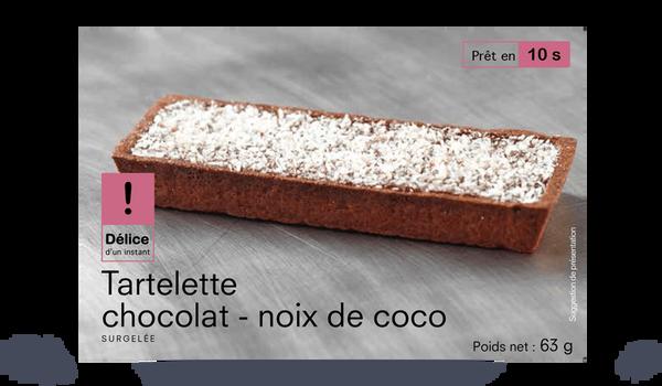 Tartelette chocolat-noix de coco, 1 part