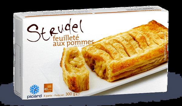 Strudel feuillet aux pommes surgel s les p tisseries - Feuillete aux pommes caramelisees ...