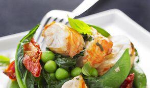 Langouste en salade de légumes vapeur