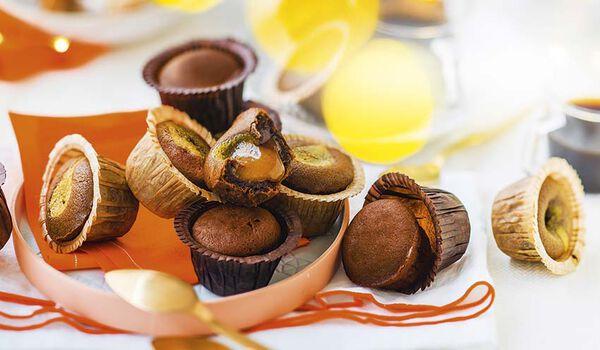 12 mini-moelleux coeur-caramel, coeur-speculos