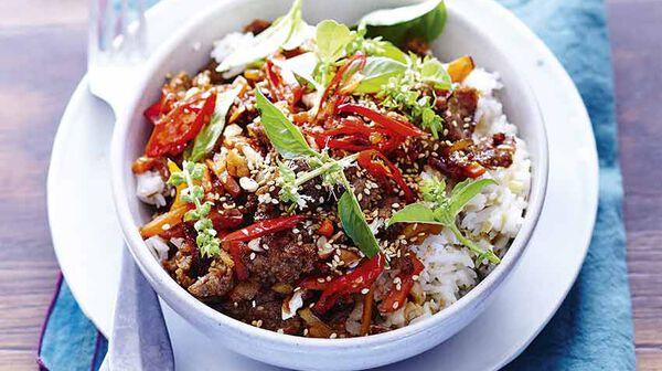 Bœuf haché tout parfumé et riz coco Thaï Thaï ! - Dorian cuisine