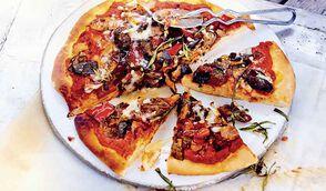 Pizza aux légumes grillés