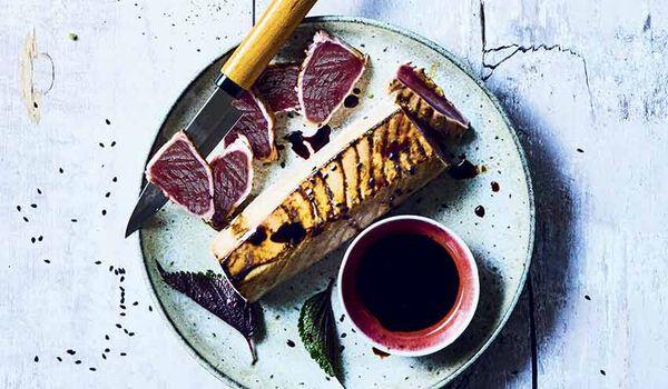 Tataki de bonite à ventre rayé