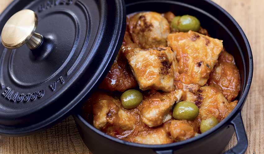 Saut de porc tomates olives surgel s les plats cuisin s for Plats cuisines picard