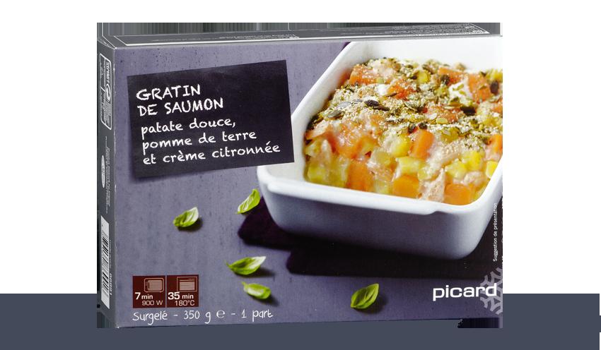 Gratin de saumon patate douce pomme de terre et cr me - Boite conservation pomme de terre ...