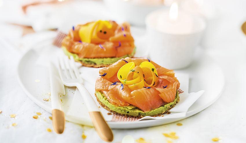 pâtes auw deux saumons asperges