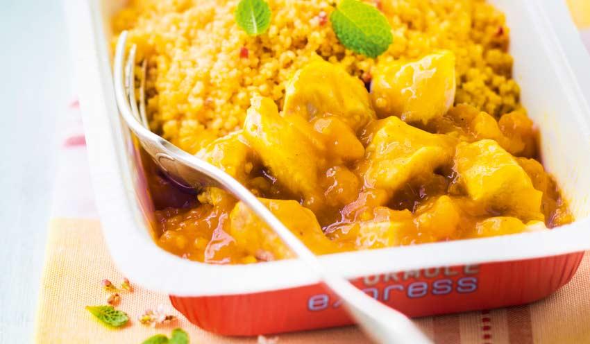 Tajine de poulet aux abricots semoule aux pices surgel s for Picard plats cuisines