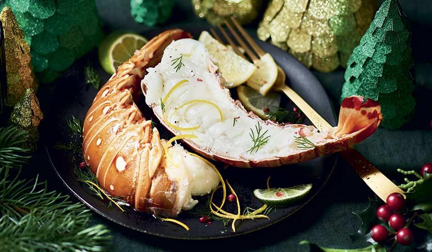 Queues de langouste blanche cara bes crues 3 4 pi ces surgel s les poissons crustac s - Cuisiner des queues de langouste ...