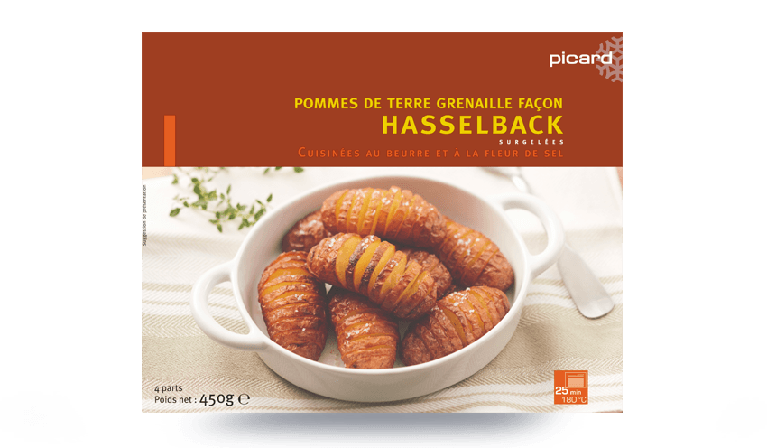 pommes de terre grenaille fa on hasselback surgel s les l gumes picard. Black Bedroom Furniture Sets. Home Design Ideas