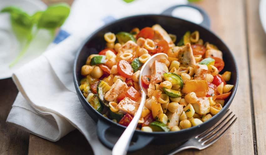 Poulet l gumes petites p tes mozzarella surgel s les for Picard plats cuisines