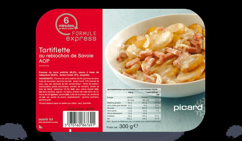 Tartiflette au reblochon de savoie aop surgel s les for Plats cuisines picard