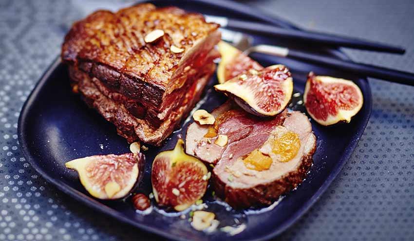 Recette r ti de magret de canard figues abricots recettes les plats picard - Accompagnement magret de canard grille ...