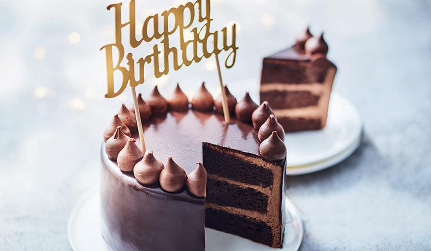 gâteau d'anniversaire au chocolat surgelés - les pâtisseries - picard