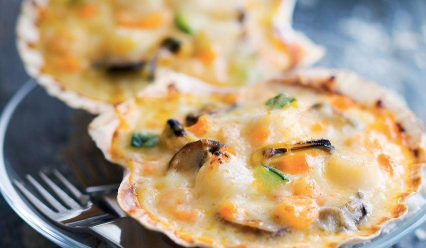 4 coquilles aux fruits de mer surgel s les entr es tartes et salades picard - Coquille saint jacques bretonne champignons ...