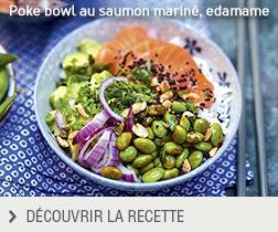 Poke bowl au saumon mariné