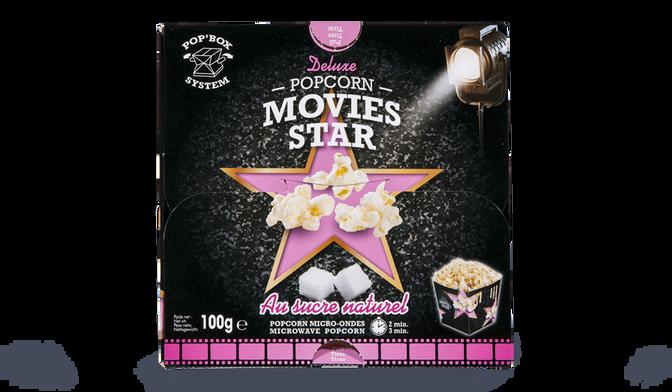 Popcorn Movies Star au sucre naturel