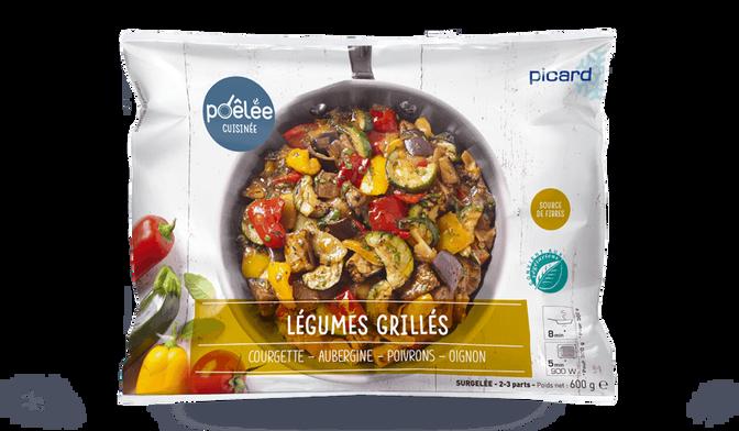 Poêlée de légumes grillés courgette, aubergine, poivrons, oignon