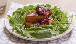 Bouchées de foie gras aux framboises