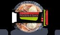 Pizza provolone fumé et jambon speck