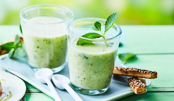Velouté glacé de concombre à la menthe