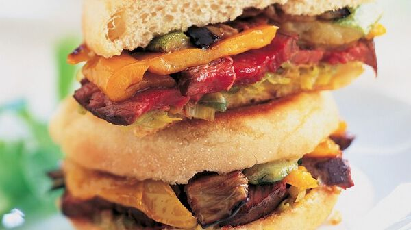 Steak-sandwich d'autruche