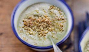 Soupe de lait à l'oseille et quinoa