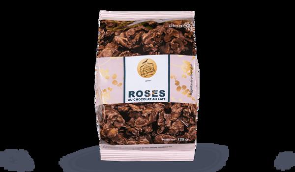 Roses au chocolat au lait