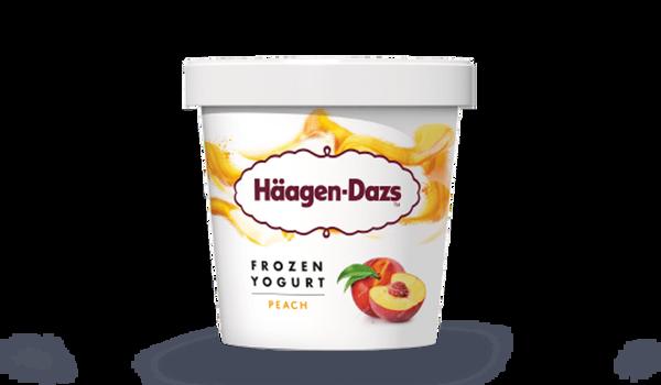 Frozen yogurt pêche