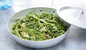 Poêlée de légumes verts