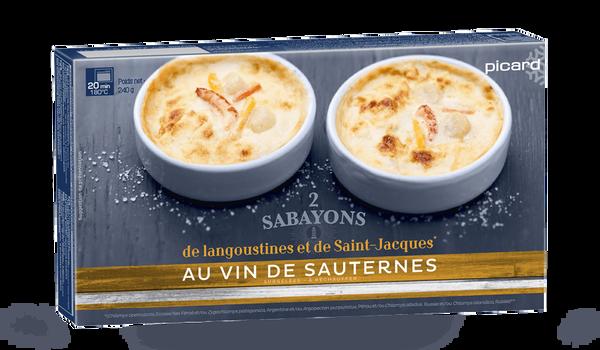 2 sabayons langoustines et St-Jacques au Sauternes