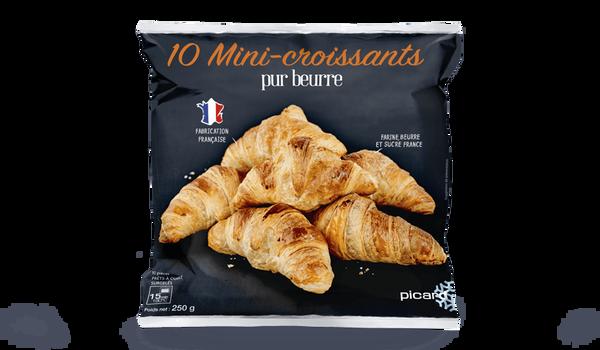 10 mini-croissants, pur beurre