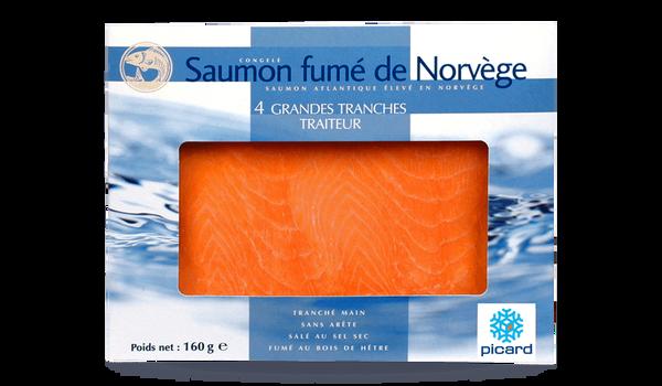 4 grandes tranches de saumon fumé, Norvège