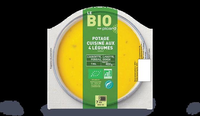 Potage aux 4 légumes bio