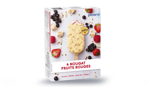4 bâtonnets nougat fruits rouges
