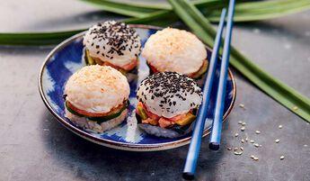 Assortiment de 4 sushi burgers