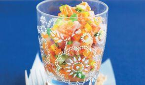 Tartare de saumon aux baies roses