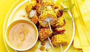 Brochettes de maïs et poulet thaï