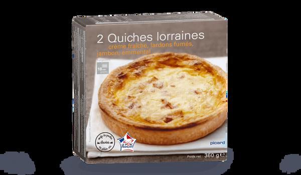 2 quiches lorraines