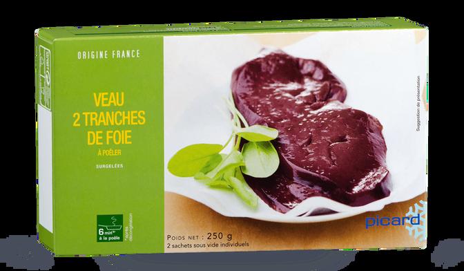 2 tranches de foie de veau