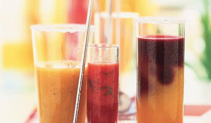 Cocktail fruits rouges et mangue