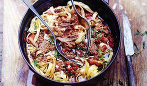 Pasta al ragù d'anatra  - Pâtes au canard confit