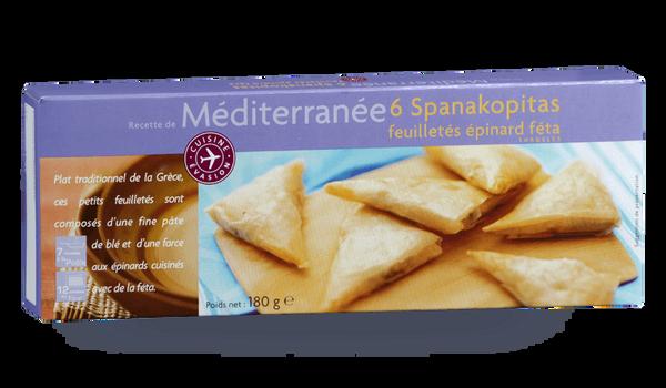 6 spanakopitas, feuilletés épinard fromages