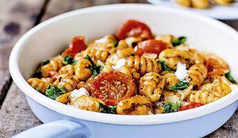 Poêlée de gnocchis, tomates, mozzarella