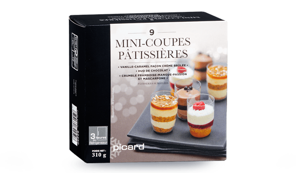9 mini-coupes pâtissières