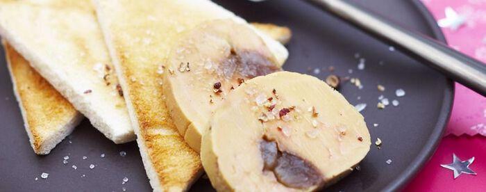 Foie gras aux marrons glacés